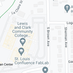Google map of Lewis and Clark Community College N.O. Nelson ...